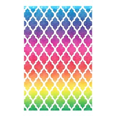 Colorful Rainbow Moroccan Pattern Shower Curtain 48  X 72  (small)