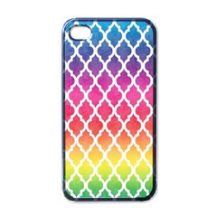 Colorful Rainbow Moroccan Pattern Apple Iphone 4 Case (black)
