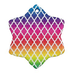Colorful Rainbow Moroccan Pattern Ornament (snowflake)