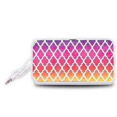Colorful Rainbow Moroccan Pattern Portable Speaker (White)
