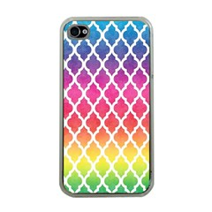 Colorful Rainbow Moroccan Pattern Apple Iphone 4 Case (clear)