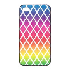 Colorful Rainbow Moroccan Pattern Apple Iphone 4/4s Seamless Case (black)
