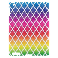 Colorful Rainbow Moroccan Pattern Apple Ipad 3/4 Hardshell Case