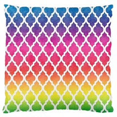 Colorful Rainbow Moroccan Pattern Large Cushion Case (Two Sides)