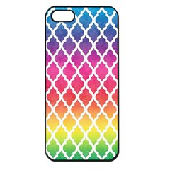 Colorful Rainbow Moroccan Pattern Apple Iphone 5 Seamless Case (black)