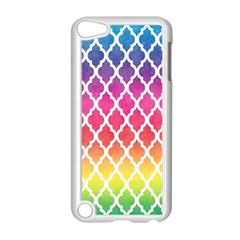 Colorful Rainbow Moroccan Pattern Apple iPod Touch 5 Case (White)