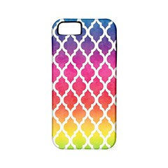Colorful Rainbow Moroccan Pattern Apple Iphone 5 Classic Hardshell Case (pc+silicone)