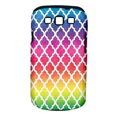 Colorful Rainbow Moroccan Pattern Samsung Galaxy S III Classic Hardshell Case (PC+Silicone)