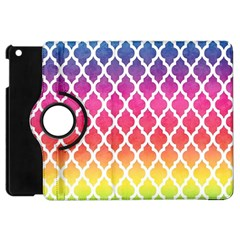 Colorful Rainbow Moroccan Pattern Apple iPad Mini Flip 360 Case