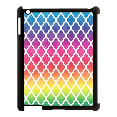 Colorful Rainbow Moroccan Pattern Apple Ipad 3/4 Case (black)