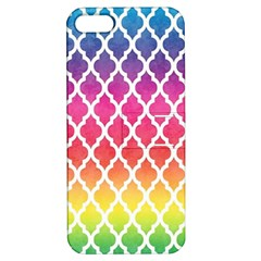 Colorful Rainbow Moroccan Pattern Apple Iphone 5 Hardshell Case With Stand