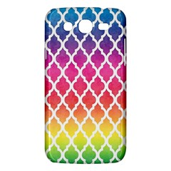 Colorful Rainbow Moroccan Pattern Samsung Galaxy Mega 5.8 I9152 Hardshell Case