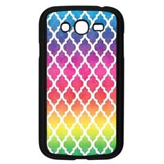 Colorful Rainbow Moroccan Pattern Samsung Galaxy Grand Duos I9082 Case (black)