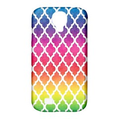 Colorful Rainbow Moroccan Pattern Samsung Galaxy S4 Classic Hardshell Case (pc+silicone)