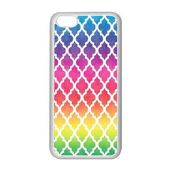 Colorful Rainbow Moroccan Pattern Apple Iphone 5c Seamless Case (white)