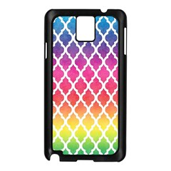 Colorful Rainbow Moroccan Pattern Samsung Galaxy Note 3 N9005 Case (Black)