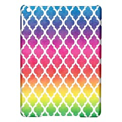 Colorful Rainbow Moroccan Pattern iPad Air Hardshell Cases