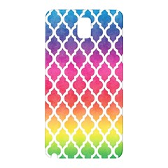 Colorful Rainbow Moroccan Pattern Samsung Galaxy Note 3 N9005 Hardshell Back Case