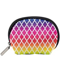 Colorful Rainbow Moroccan Pattern Accessory Pouches (small)