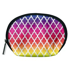 Colorful Rainbow Moroccan Pattern Accessory Pouches (Medium)