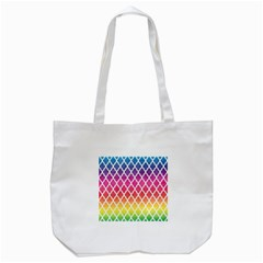 Colorful Rainbow Moroccan Pattern Tote Bag (white)