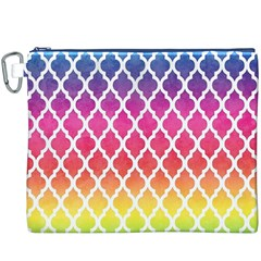Colorful Rainbow Moroccan Pattern Canvas Cosmetic Bag (xxxl)