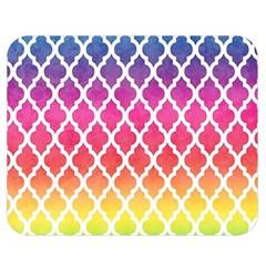 Colorful Rainbow Moroccan Pattern Double Sided Flano Blanket (medium)