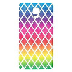 Colorful Rainbow Moroccan Pattern Galaxy Note 4 Back Case