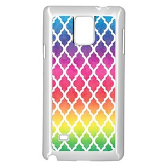 Colorful Rainbow Moroccan Pattern Samsung Galaxy Note 4 Case (White)