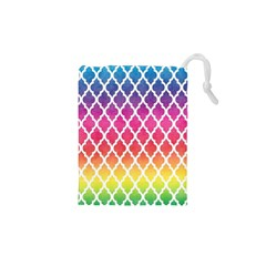 Colorful Rainbow Moroccan Pattern Drawstring Pouches (xs)