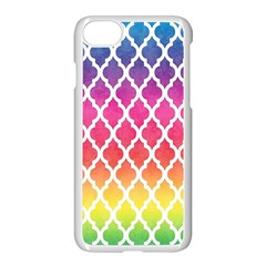 Colorful Rainbow Moroccan Pattern Apple Iphone 7 Seamless Case (white)