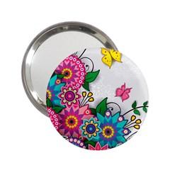 Flowers Pattern Vector Art 2 25  Handbag Mirrors