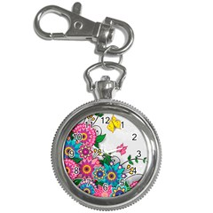 Flowers Pattern Vector Art Key Chain Watches