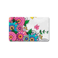 Flowers Pattern Vector Art Magnet (name Card)
