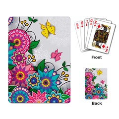 Flowers Pattern Vector Art Playing Card