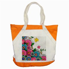 Flowers Pattern Vector Art Accent Tote Bag