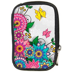 Flowers Pattern Vector Art Compact Camera Cases