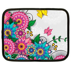Flowers Pattern Vector Art Netbook Case (xl)