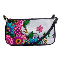 Flowers Pattern Vector Art Shoulder Clutch Bags