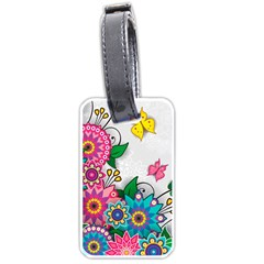 Flowers Pattern Vector Art Luggage Tags (Two Sides)
