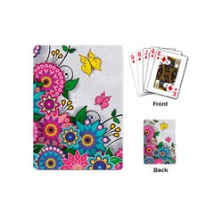 Flowers Pattern Vector Art Playing Cards (mini)