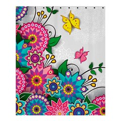 Flowers Pattern Vector Art Shower Curtain 60  X 72  (medium)