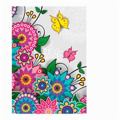 Flowers Pattern Vector Art Small Garden Flag (two Sides)
