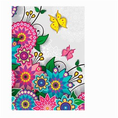 Flowers Pattern Vector Art Large Garden Flag (Two Sides)