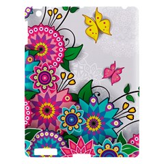Flowers Pattern Vector Art Apple Ipad 3/4 Hardshell Case