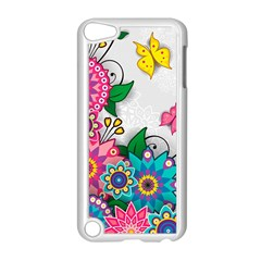 Flowers Pattern Vector Art Apple Ipod Touch 5 Case (white)