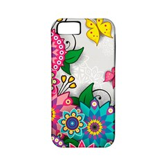 Flowers Pattern Vector Art Apple Iphone 5 Classic Hardshell Case (pc+silicone)