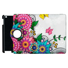 Flowers Pattern Vector Art Apple Ipad 3/4 Flip 360 Case