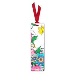 Flowers Pattern Vector Art Small Book Marks