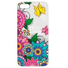 Flowers Pattern Vector Art Apple iPhone 5 Hardshell Case with Stand